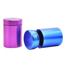 Big Storage Boxes Australia - Big size Starsh jar 66*45mm Pill Box Water Proof Airtight Aluminum Case Bottle Holder Container Bottle Storage