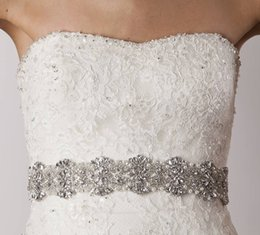 Barato Faixas De Strass Barato Para Vestidos-2015 Belts Bridal Belts with Crystals Bridal Sashes com Rhinestones Bridal Accessories Cinto removível para Prom / Evening / Wedding Dress