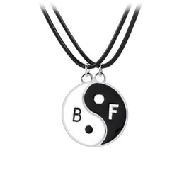 Unique Best Friend Jewelry UK - Best Friends Yinyang Pendant Necklace Set Silver Plated Music Note Necklaces Gift Idea Unique Jewelry Chokers Necklaces