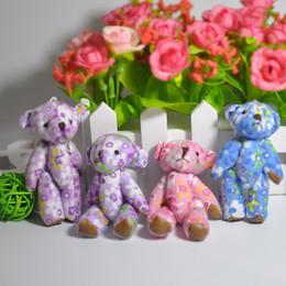 $enCountryForm.capitalKeyWord Canada - Bluk 7cm Mini Lovely Cloth Teddy Bear Pendants miniature bear Key chain Phone Bag Bouqeut jewellery accessory gift Soft Dolls