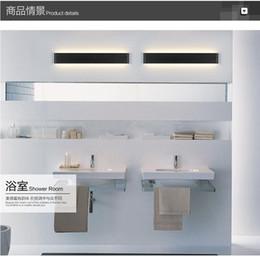 Modern Art Deco Bathrooms Canada - 2016 new design Modern 90cm Long 30W Aluminum LED Wall Lamps for livingroom bathroom as Decoration Sconce Light 90-260V lamparas de pared
