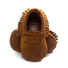 Boys Toddlers Socks NZ - Wholesale Brown Fringe Baby Boys First Walkers Multi Colors 0-2years Soft Newborn anti-slip Shoe Top Quality Toddler socks Hot Sale