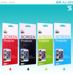 $enCountryForm.capitalKeyWord NZ - 500pcs Color Paper Packing Retail For Phone Screen Protector Packaging Package Box For Samsung Note3 iphone 5 Tempered Glass Guard Film