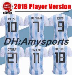 $enCountryForm.capitalKeyWord NZ - 2018 Player Vers Argentina Soccer Jersey 2018 world cup Argentina kit Home soccer Shirt Custom Messi Aguero Di Maria football