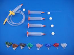 Syringes Liquid Canada - 10CC Liquid Dispenser Solder Paste Adhesive Glue Syringe + Dispensing Needle Tip