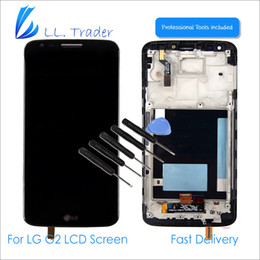 wills kits 2019 - Wholesale-Black LCD Display for G2 D806 802 LCD Screen & Digitizer Touch Assembly with Frame & Full Repair Tool