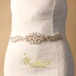 Brides Belts online shopping - 2020 Cheap Bride Dresses Belts Popular Beautiful Bridal Accessories Crystals Rhinestone Bridal Dress Sash for Wedding Party XNYD002