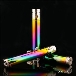 e cigarettes rainbow batteries NZ - 2200mah Ecig Rainbow Batteries GS Ego II Twist 2200 mah VV E-Cigarette Battery 510 Thread Bottom Variable Voltage 3.3V-4.8V Vape Pen