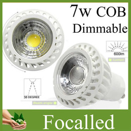 12v rohs led lights NZ - New Arrival 7w cob led spotlight gu10 mr16 dimmable led spot lamp light bulb AC110-240V 12V Indoor led lamp light warm natural cold white