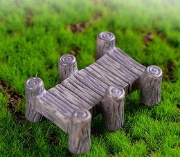 8pcs Retro Wooden Bridge Ornament Fairy Garden Miniature Craft Terrarium  Figurines Baison Tool Dollhouse Decor Home Accessories