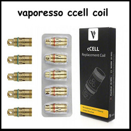 $enCountryForm.capitalKeyWord Australia - New arrival Authentic Vaporesso Ceramic Ccell Coil Head Replacement 0.2ohm Ni200 0.9ohm Kanthal Coil fit Target Tank