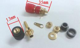 Terminal binding posTs online shopping - 50 brass Gold plated Binding Post Speaker Terminal for mm Banana plug