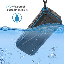 Discount powered floor standing speakers - New Waterproof Bluetooth Speaker Portable Outdoor Subwoofer with Two Speakers Wireless Music Player Shockproof Dustproof