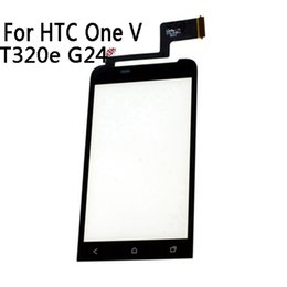 One tOuch cable online shopping - Black Front Glass Window Touch Panel For HTC One V T320e G24 Touch Screen Digitizer With Sensor Cable Replacement Parts NP279