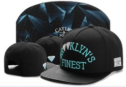 China Cotton Leather Cayler & Sons baseball caps BROOKLYN'S FINEST Embroidery hats Snapback Caps adjustable black hats for men snapbacks TYMY 728 suppliers