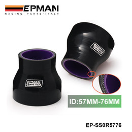 """Hose Joiner Canada - EPMAN 2.24""""-3"""" 57mm-76mm Stoney Racing Silicone Straight Reducer Hose Joiner Coupler Turbo Intercooler Black EP-SS0R5776"""