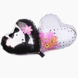 $enCountryForm.capitalKeyWord NZ - 50pcs lot 18 inch love wedding dress aluminum balloon ball suit suit aluminum balloon love suit wedding balloon