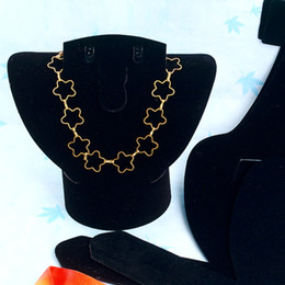 $enCountryForm.capitalKeyWord Australia - Wholesale 10pcs 160mm Dismountable Black Velvet Plastic Necklace Stud Earring Ring Jewelry Set Display Stand, Jewelry Showcase Display Stand