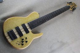 Guitar One Piece Neck Australia - Top Quality One Piece Maple Neck through White Ash body Birdseye Maple Fodera Bass Butterfly 9V Active Pickup 7 String Electric Bass Guitar