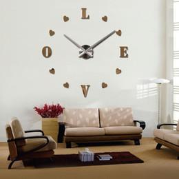 2016 Wall Clock Quartz Living Room Diy Clocks Modern Design Watch Horloge  Murale Acrylic Mirror 3d Stickers Designer Wall Clock