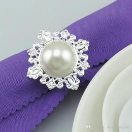 $enCountryForm.capitalKeyWord Canada - new Imitation Pearls silver Napkin Rings for wedding dinner,showers,holidays,Table Decoration Accessories wn271B
