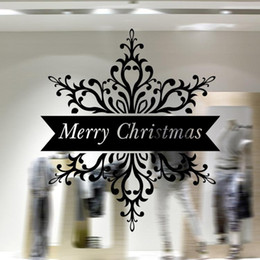 Christmas Removable Window Stickers Canada - Free DHL Home decoration wall decals Christmas decorations Window Stickers mural wall stickers home decor wallpaper LA71-7