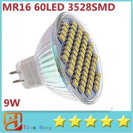 led bulbs warm white NZ - MR16 9W 60 SMD 3528 LED High Power Light White Warm white LED Spotlight Bulb Ceiling Saving Lamp 3 Years Warranty