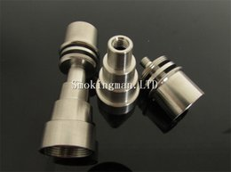Titanium Domeless Nail 16mm Canada - DHL GR2 domeless titanium nail for 16mm 20mm heating coil domeless titanium nail with male and female joint Perfet Match Dnail