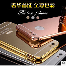 Chinese  Luxury Aluminum Mirror Metal Bumper Case PC Cover frame for iPhone 7 SE 6 6S Plus 5S Samsung Galaxy S7 S6 edge NOTE 7 manufacturers