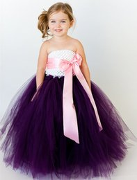 $enCountryForm.capitalKeyWord Canada - New 2018 Kids girls clothes hand-made Dress 8 colors purple pink nice Clothes lovely baby girls wedding bridesmaid party dress