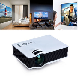 Projector Remotes NZ - 800 Lumens Full HD 1080P Mini led TV Projector UC40 Portable LED Projector Contrast Ratio 800:1 with Remote Controller