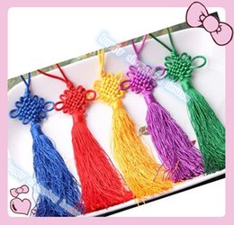$enCountryForm.capitalKeyWord Canada - 15pcs Traditional Cute Chinese Knots Pretty Lucky Car Hanging Accessories DIY Weaving Craft Pendant Interior Decorations