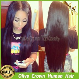 Unprocessed Virgin Hair U Part Wig Canada - Virgin Malaysian Human Hair Silk Straight Lace Front Wigs 100% Unprocessed Glueless Straight U Part Wig With Middle Part