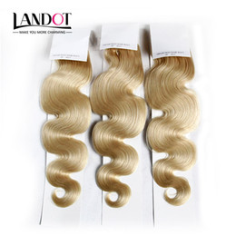 $enCountryForm.capitalKeyWord Canada - Brazilian Body Wave Virgin Hair Grade 8A Color #613 Bleach Blonde Human Hair Weave Bundles Remy Extensions 3 4Pcs Lot 12-30Inch Double Wefts