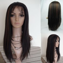 yaki wigs black women NZ - Lace Front wigs for black women 1B 30# Highlights Full Lace Wigs Indian Human Remy Hair Light Yaki