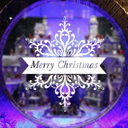 Christmas Removable Window Stickers Canada - Free DHL Home decoration wall decals Christmas decorations Window Stickers mural wall stickers home decor wallpaper LA71-6