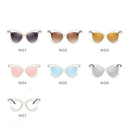 c7cc734803 Discount personality eye glasses - 7 Colors Cat Eye Sunglasses Personality  Sunglasses for Unisex Luxury Brand