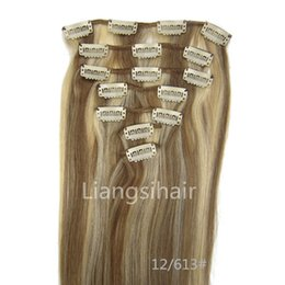 "$enCountryForm.capitalKeyWord Canada - Clip in Hair Straight Style 15"" 18"" 20"" 22"" 7pcs 70g Mix Color 12 613# Brazilian Indian Malaysian Peruvian Remy Human Hair Extension"