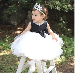 Dresse Pour La Fête Pas Cher-Robes Fille 8085 Vêtements Fille Enfants perlage Collier bowknot Princesse Dresse Performance robes 3-8T