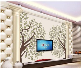 $enCountryForm.capitalKeyWord Canada - 3d wallpaper TV background wallpaper the living room sofa backdrop mural Tree pillars leather mural wallpaper 201515034