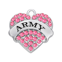 $enCountryForm.capitalKeyWord NZ - Free shipping New Fashion Easy to diy 3pcs a lot military series army DIY charm four color crystals jewelry making fit for necklace or brace
