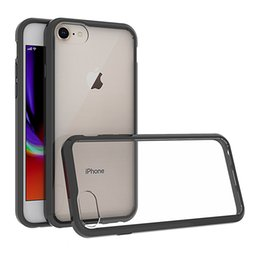 Iphone Air Case Transparent NZ - For Iphone 8 Plus Iphone X Transparent Case Shockproof Soft TPU Bumper + Clear PC Back Cover Air Cushion Phone Cases For iPhone 8
