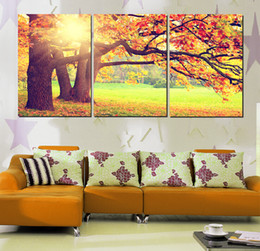 $enCountryForm.capitalKeyWord Canada - 3 Pieces Free shipping Home decoration Art Picture on Canvas Prints tree Wine Glass orchid Bamboo forest fallen leaves violin flower