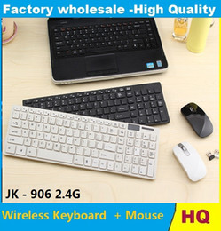 Usb Wireless Keyboards Canada - NEW high quality JK - 906 2.4G Ultra Thin Wireless Multiple Battery-safe Desktop Keyboard and Mouse Combo with USB Receiver 50pcs