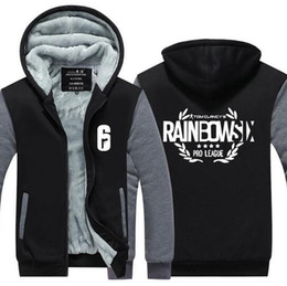 Discount rainbow hoodies - Tom Clancy's Rainbow Six Siege Cashmere Hoodie Mens Casual Game Zipper Overcoat Thick Winter Super Warm Cotton Swea