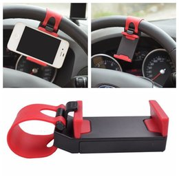 Discount smartphone 3.5 - Universal Car Steering Wheel Mobile Phone Holder, Bracket for iPhone 4S 5 6 plus Samsung Galaxy S4 S5 S6 Note 3 4 Smartp