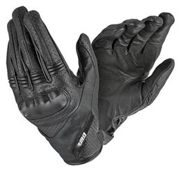 Short Motorcycle Leather Gloves NZ - New Essential perforated leather Gloves short Summer Motorcycle Gloves