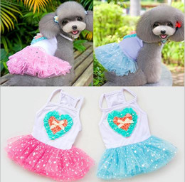 $enCountryForm.capitalKeyWord Canada - Free shipping Pet dog summer dress for wedding puppy chihuahua vestido para cachorro dresses clothing for dogs robe pour chien tutu dress