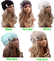 $enCountryForm.capitalKeyWord Canada - Winter Fashion Lady winter warm Knitted Beanies girls Crochet hat Warm lace Beret Skull Cap For Women Accessories