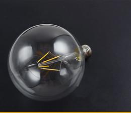 E27 tungstEn lamp online shopping - Sapphire subtrate G125 Tungsten LED Lamp Filament Light Bulb Edison Style E27 v V Degree Glass for Home Lighting Edison bulb
